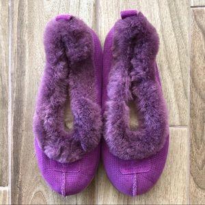 UGG Australia Rylan Perf Flats Slippers Purple 9